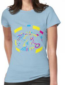 Daft Punk CMYK Womens Fitted T-Shirt