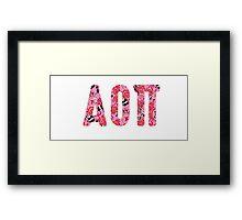 Alpha Omicron Pi Framed Print