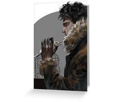 Black Hand Greeting Card