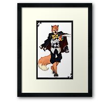 Anthro 'Joker'(Book of Circus)- Onyx Art Studios Framed Print