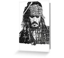 Johnny Depp as Captain Jack Sparrow Greeting Card