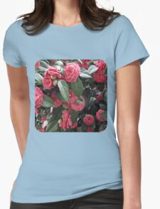 Camellia Blossoms Womens Fitted T-Shirt