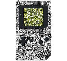Game Controller Doodle Photographic Print
