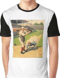 Baseball, Runner Sliding past catcher, early 1900s Graphic T-Shirt