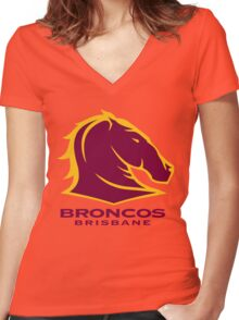 Broncos Women's Fitted V-Neck T-Shirt