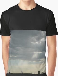 Stormy Steel-city Skyscape Graphic T-Shirt