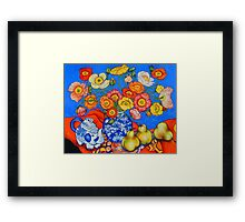 Poppies & Pears Framed Print