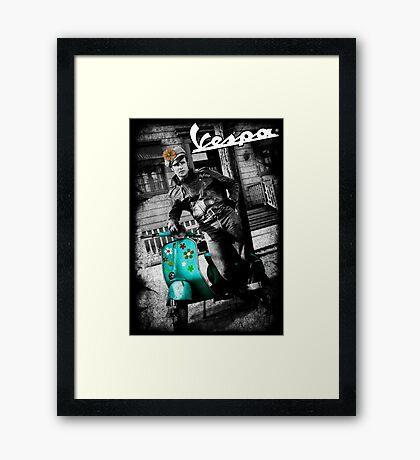 CLASSIC BIKER Framed Print