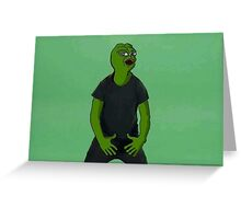 'Just Do It' Pepe Greeting Card