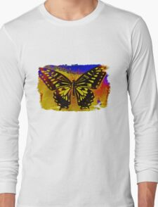 """psychedelic butterfly""  Long Sleeve T-Shirt"