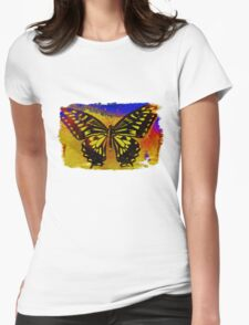 """""""psychedelic butterfly""""  Womens Fitted T-Shirt"""