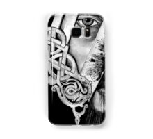 V Logo with Half Face King Ragnar Vikings Samsung Galaxy Case/Skin