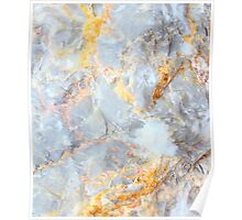 Grey & Gold Marble Poster