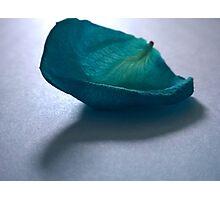 Blue Rose Petal Photographic Print