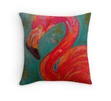 Flamingo Frou Frou Throw Pillow