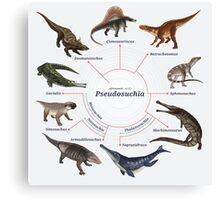 Pseudosuchia: The Cladogram Canvas Print