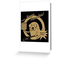 makin bacon pancakes Greeting Card