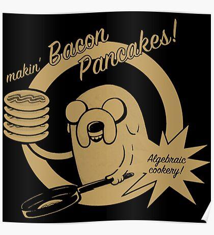 makin bacon pancakes Poster