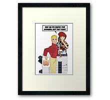 Skidmarks! Framed Print