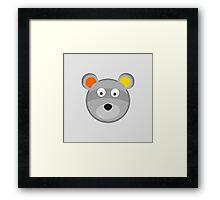 the face of a Panda on white background  Framed Print