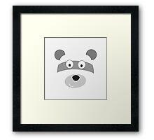black and white Panda,vector illustration Framed Print