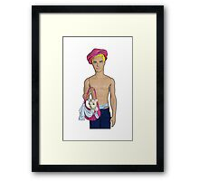 Cutie With A Chihuahua! Framed Print