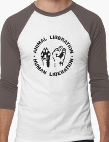 animal Liberation Men's Baseball ¾ T-Shirt