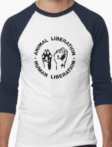 animal Liberation Men's Baseball ¾ T-Shirt