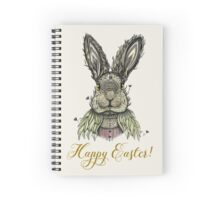 Happy Easter Rabbit Spiral Notebook