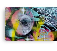 Colorful Graffiti on the textured wall Canvas Print