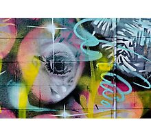 Colorful Graffiti on the textured wall Photographic Print
