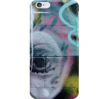 Colorful Graffiti on the textured wall iPhone Case/Skin