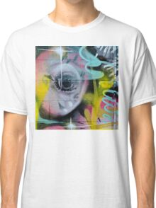 Colorful Graffiti on the textured wall Classic T-Shirt
