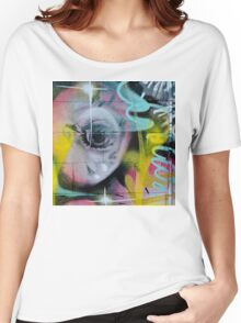 Colorful Graffiti on the textured wall Women's Relaxed Fit T-Shirt