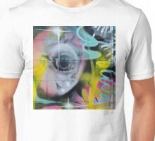 Colorful Graffiti on the textured wall Unisex T-Shirt
