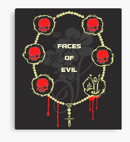 Gangster Totenkopf T-Shirts / Faces of Evil Canvas Print