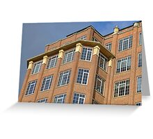 London Deco Offices: King's College London detail Greeting Card