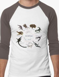 Sauropterygia: The Cladogram Men's Baseball ¾ T-Shirt