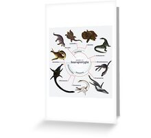Sauropterygia: The Cladogram Greeting Card