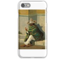 Ralph Davidson Miller. Copenhagen -.  Sign dat Sitting fuming Mexican poncho.. iPhone Case/Skin