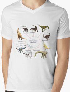Sauropodomorpha: The Cladogram Mens V-Neck T-Shirt