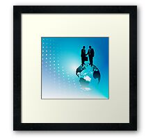 Global Business Background Framed Print
