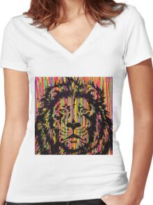 The King Of Colour Women's Fitted V-Neck T-Shirt