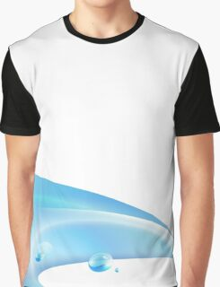 Water Wave Background Graphic T-Shirt