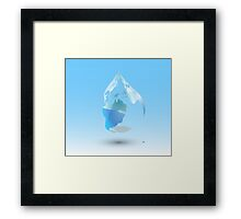 Global Drop Of Water Background Framed Print