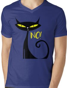 Cat - Answer to all your questions is No! Mens V-Neck T-Shirt