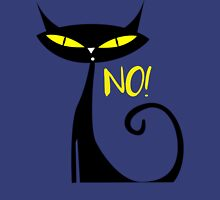 Cat - Answer to all your questions is No! Womens Fitted T-Shirt