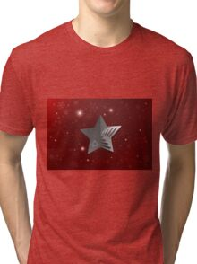 Abstract Christmas Star Background Tri-blend T-Shirt