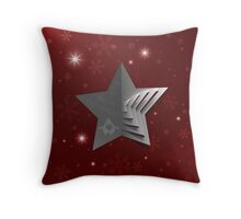 Abstract Christmas Star Background Throw Pillow
