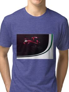Abstract Christmas Ribbons Background Tri-blend T-Shirt